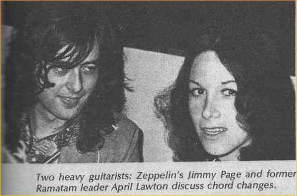 photo of April Lawton with Jimmy Page
