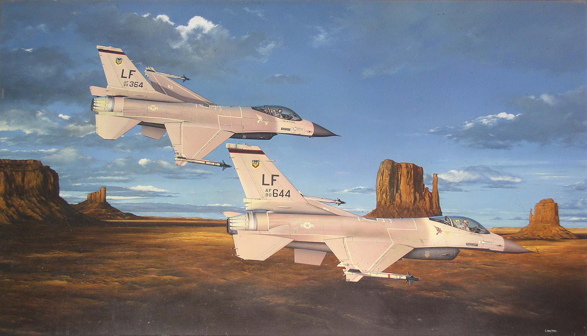 F-16 Fighting Falcons by April Lawton