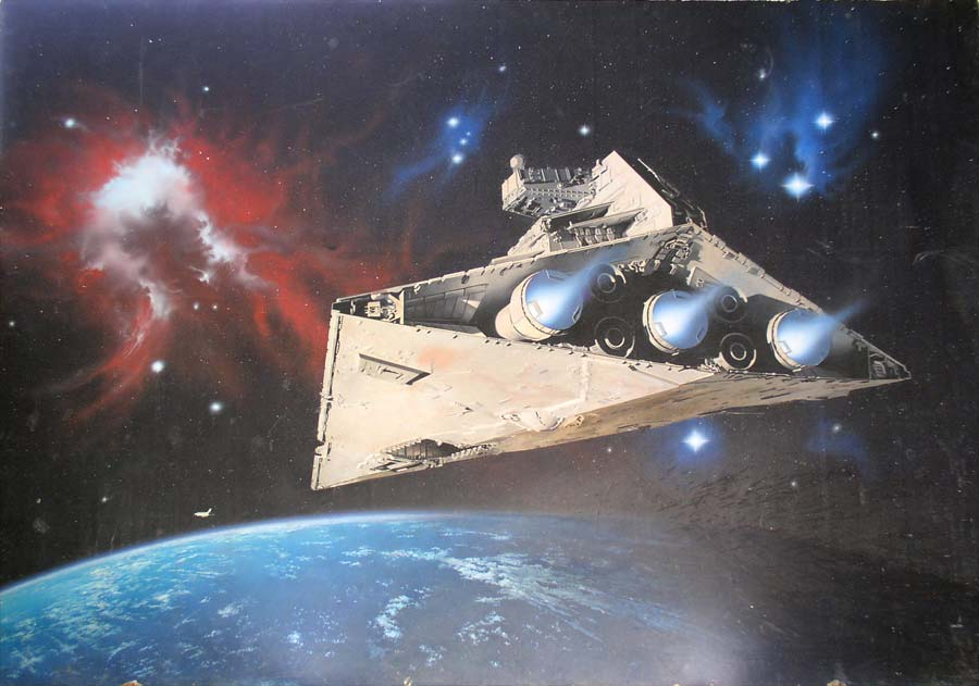 Star Wars Imperial Battleship and Nasa Space Shuttle by April Lawton