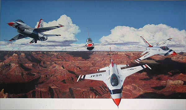 USAF over The Grand Canyon by April Lawton